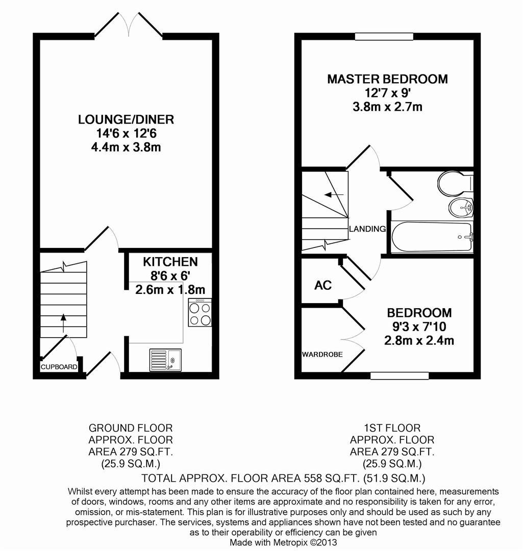 Floorplan for Sloughbrook Close, Horsham